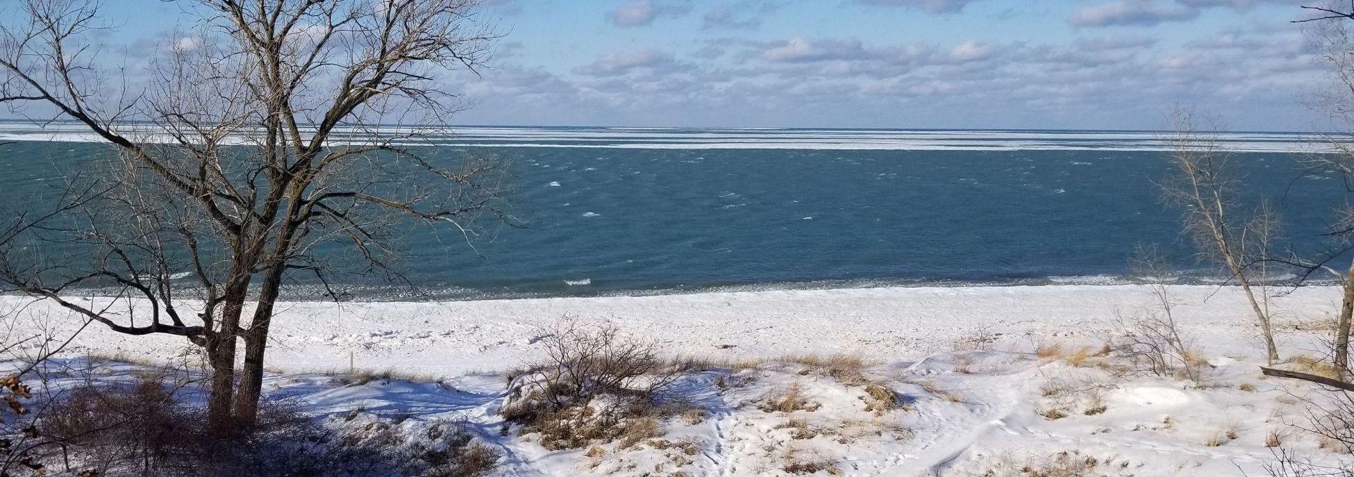 Porter Beach in Winter